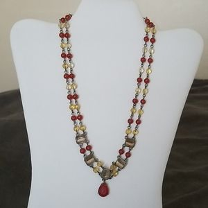 Vintage Tudor Inspired Bead Necklace